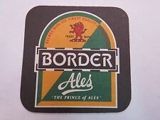 Beer Brewery Bar Coaster <> BORN IN THE BORDERS Border Ales ~ Jedburgh, SCOTLAND