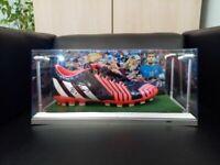 Fußballschuh Sokratis signiert Beleuchtung Griechenland Arsenal Fußball Greece