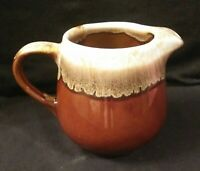 Vintage McCoy Pottery Marked Brown Drip Creamer #7020 Excellent Condition
