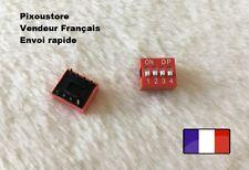 Lot de 5 micro interrupteur DIP 4 positions ON/OFF neuf DS4 Switch 3-54