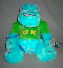 MONSTERS INC plush SULLEY OK UNIVERSITY SITS 12 inch DISNEY NWT