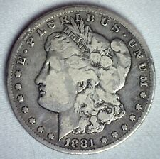 1881 CC Morgan Silver Dollar Coin $1 US Type Coin Fine One Dollar