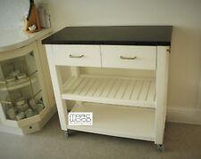 kitchen island trolley with granite top, 2 drawers, chrome handles, handmade UK
