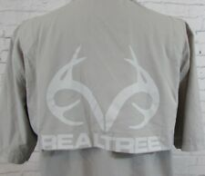 Men's Realtree Vented Outdoor Fishing Shirt Gray XL