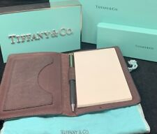 Tiffany&Co Leather Notepad Mechanical Pencil Combination - With Box and Pouch