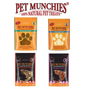 Pet Munchies 100% Natural Dog Treats - Fish Selection - Cases of 8 packs