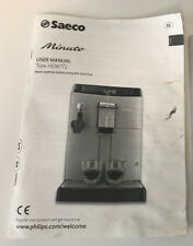 Saeco Minuto HD8772 Instructions Directions User Manual Book