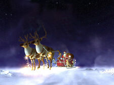 "Christmas  Santa  Fridge  Magnet  4""x6""    Xmas House Office Decorations #12"