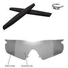 Walleva Polarized Transition Lenses and Black rubber kit 4 Oakley M Frame Hybrid