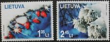 Christmas stamps, 2008, snow, trees, Lithuania, 2 stamp set, mint, never hinged