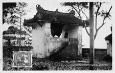 RPPC ANNAM UN TAMTAM DU TEMPLE DE VINH-MU INDO - CHINA VIETNAM PHOTO POSTCARD