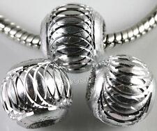 Lots Mixed Aluminum Carved Lantern Spacer Handmade Beads Jewlery DIY 6/8/10/12MM