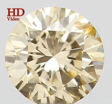 Natural Loose Diamond Round SI1 Clarity Yellow Color 3.20MM 0.12 Ct KR169