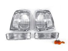 DEPO 1992 1993 1994-1995 TOYOTA PICKUP 2WD CLEAR CORNER LIGHTS + BUMPER SIGNALS