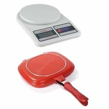 7KG/1G LCD Electronic Kitchen Weighing Scale with 32CM Double Grill Pan