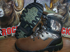 "NEW 8"" ROCKY HUNTING BOOTS REALTREE WATERPROOF 800 THINSULAT SIZE 9XW"