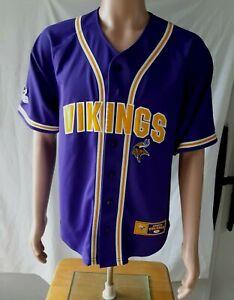 Minnesota Vikings NFL National Football League Size Medium Baseball Jersey