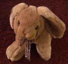 """Carlton Cards Brown Bunny Plush with Bow 11"""""""