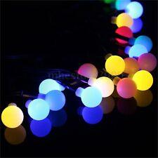 9M Solar Power 20 LEDS Ball Fairy String Lights Xmas Outdoor Garden Path Decor
