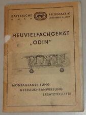 Mode D 'em Ploi / Catalogue des Pièces Bavarois Pflugfabrik Heuvielfachgerät