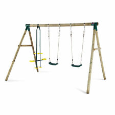NEW Plum Wooden Colobus Swing Set Metal Glider Sustainable Timber Outdoor Play
