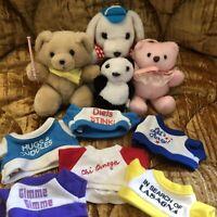 Vintage 80s Plush Lot Russ Berrie Hallmark Dakin Raffoler Panda Teddy Bears Dog