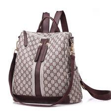 Women Backpack Travel Shoulder Bag Handbag Ladies PVC Synthetic Leather Rucksack