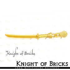 Lego Minifigure PEARL GOLD Weapon Sword Katana Blade Ninja Samurai GOLD Tassel