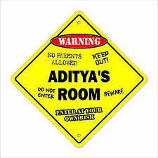 Aditya's Room Decal Crossing Xing kids bedroom door children's name boy girl