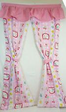 RARE Vtg Sanrio HELLO KITTY Pink & White DOORWAY Door Curtain w/ Tie Backs NEW