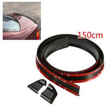 Universal Car Rear Trunk Spoiler Wing Soft Rubber Body Sticker 1.5M 4.5cm