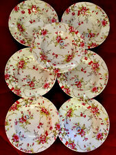 More details for cath kidston by queens pink blossom floral deep pasta soup plates bowls set x7