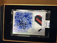 2015 Topps Dynasty Baseball Chipper Jones Letter Patch Autograph AUTO 2/10