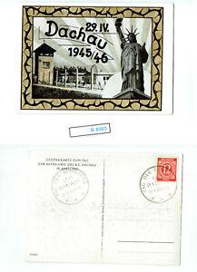 (B8363) DR Interessante Karte Befreiung Dachau