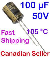 5pcs 100uF 50V 8x13mm 105 °C Panasonic FM For PC TV AUDIO VIDEO TFT ACL LCD DVD