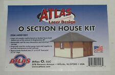 Atlas O scale 2 Rail ~ Section House Laser Wood Kit # 4001001 ~ New