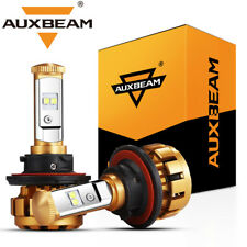 AUXBEAM H13 9008 LED Headlight High Low Beam Light Bulbs 50W 6000K 5000LM Pair