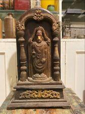 17th C Ancient Walnut Wood Carved South India God Tirupati Balaji Figure Temple