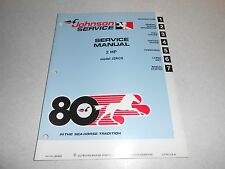 1980 2 hp Genuine JOHNSON EVINRUDE Outboard Repair & Service Manual 2hp