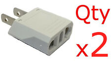 European to American Plug Adapter 2-pk- Europe Asia to US-Style converter