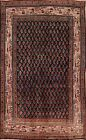 Vintage Paisley Botemir Hand-Knotted Area Rug Wool All-Over Oriental Carpet 4x7