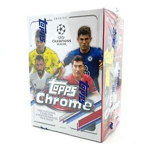 2020-2021 TOPPS CHROME UEFA CHAMPIONS LEAGUE FOOTBALL SOCCER CARDS BLASTER BOX