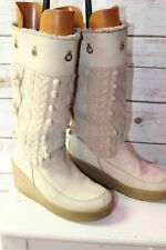 Juicy Couture Light Tan 9 Women's Mid Calf Winter Boots