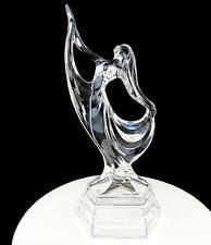 "RCR ROYAL CRYSTAL ROCK ITALIAN CLEAR ART DECO STYLE FEMALE DANCER 11"" FIGURINE"