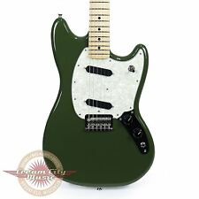 Brand New Fender Mustang with Maple Fingerboard in Olive Demo Model