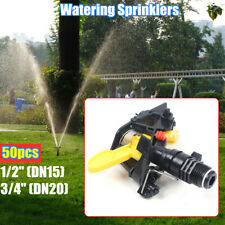 "1/2"",3/4"" 50pc Plastic Watering Sprayer Nozzle Garden Lawn Irrigation Sprinklers"