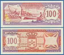 NETHERLANDS ANTILLES  100 Gulden 1981  UNC  P.19 b