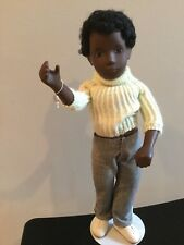 Doll Sasha Black Boy Caleb Made in England 1970's wrist tag