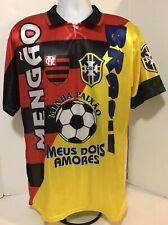 Flamengo Brazil Meus Dois Amores Mengão  minha paixão Soccer Jersey Camisa Rare