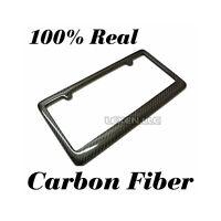 SILVER//BLACK TURBO DIESEL ENGINE LICENSE PLATE TAG FRAME CARBON FIBER LOOK B